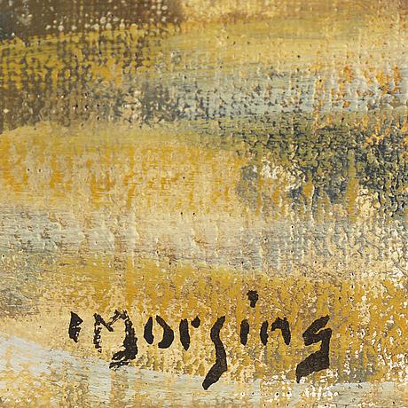 Ivar morsing, oil on panel, signed.