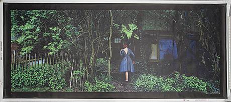 """Denise grÜnstein,""""premiär"""", screen print on canvas, from ikea art event-series, september 2006."""
