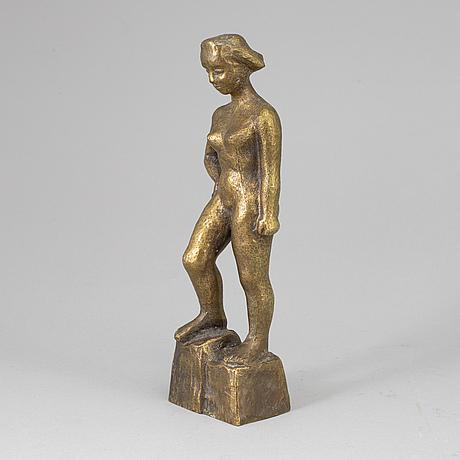 Sigge berggren, sculpture, bronze, signed berggren.