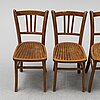 A set of four chairs, ca 1900.