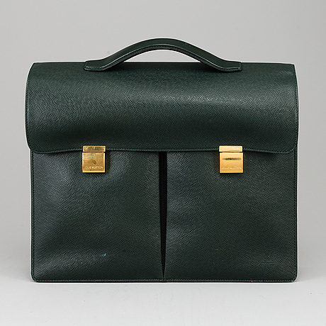 Louis vuitton, a 'serviette kazan' taiga briefcase.