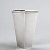 A swedish 20th century sterling silver vase mark of wiwen nilsson lund 1973, height 11,5 cm, weight 232 gr.