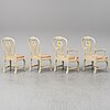 A set of four rococo style chairs.