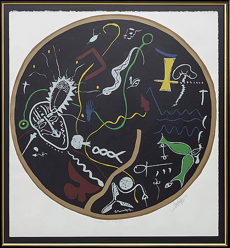 Stuart fisher, lithograph in colours signed and numbered 71/80.