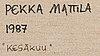 Pekka mattila, oil on canvas, signed and dated 1987.