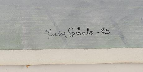 Juha soisalo, mixed media, signed and dated -83.