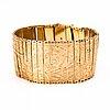 A 14k gold bracelet marked oskar lindroos, helsinki 1927. import marked.