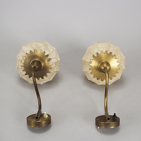 A pair of swedish modern wall lights, mid 20th century.