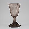 "Simon gate, an engraved goblet ""the six graces"", orrefors 1925."