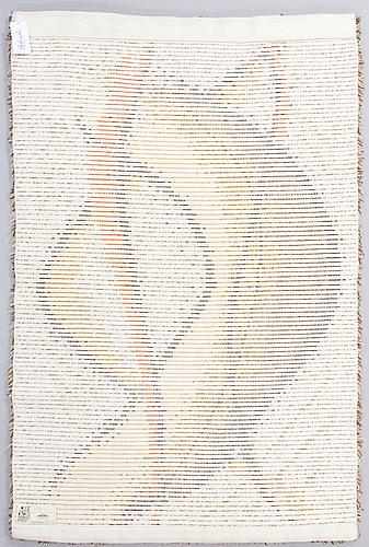 Tuula saarenpÄÄ, a finnish long pile rug for kuortaneen kutomo. circa 163x107 cm.