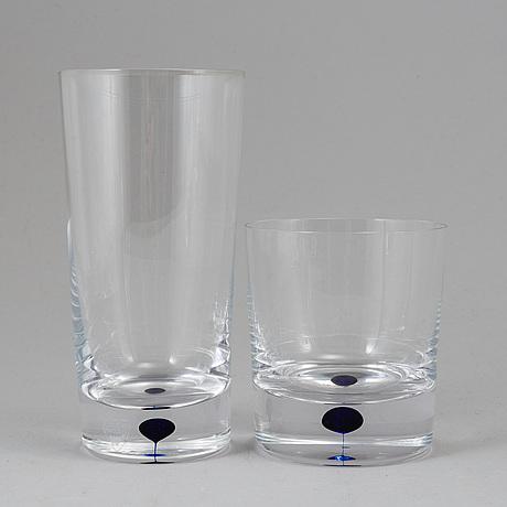 Erika lagerbielke, 26 pieces 'intermezzo' glasses, orrefors.