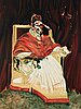 """Francis bacon, """"study for portrait of pope innocent x""""."""