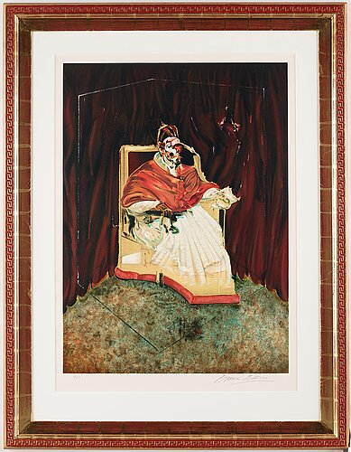 "Francis bacon, ""study for portrait of pope innocent x""."