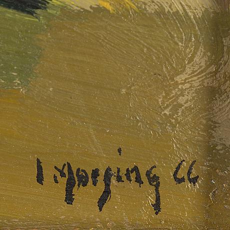 Ivar morsing, oil on panel, signed i. morsing and dated 66.