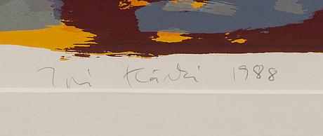 Ipi kÄrki, serigrafia, signeerattu ja päivätty 1988, numeroitu 12/15.