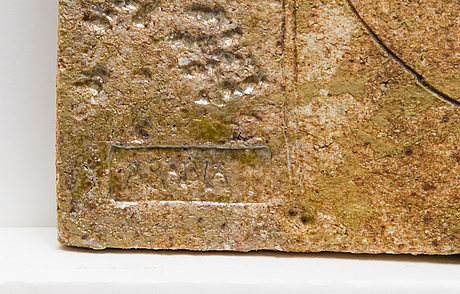 Francesca mascitti-lindh, a ceramic wall relief, signed f. lindh arabia.