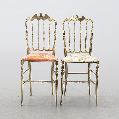 Stolar, 2 st, chiavari-stil, italien, 1900-talets andra hälft.