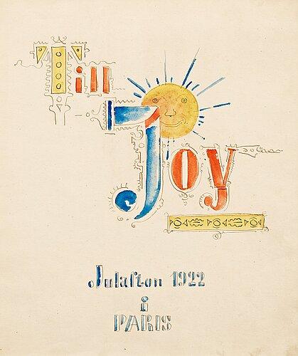 """Gösta adrian-nilsson, """"till joy"""" (to joy)."""