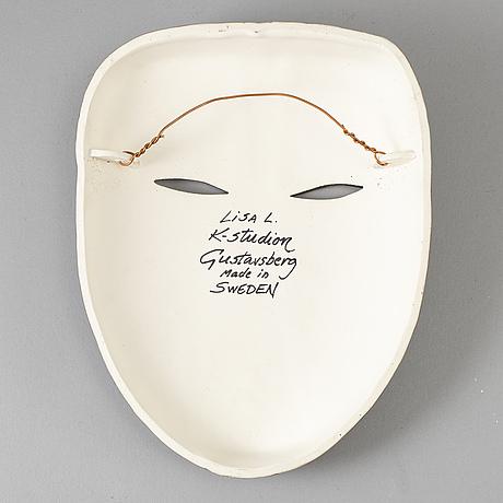 Lisa larson, mask, stoneware, from k-studion, gustavsberg.