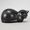 Lisa larson, a 'moses' cat stoneware figurine from k-studion, gustavsberg.