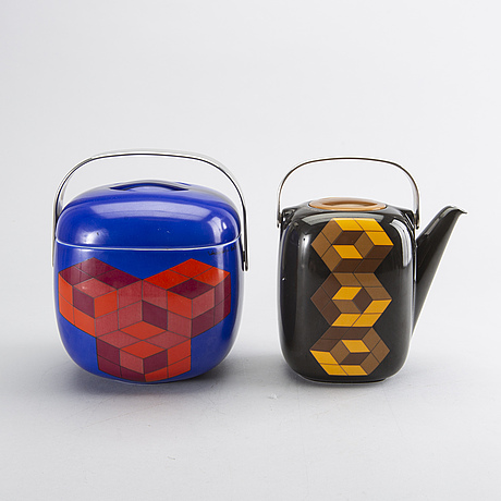Victor vasarely  / timo sarpaneva 'suomi', for rosenthal galerie, 2 pcs, signed & numberd, 1976.