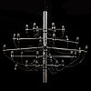 """A ceiling light """"2097/30"""" by gino sarfatti produced by flos, italy."""