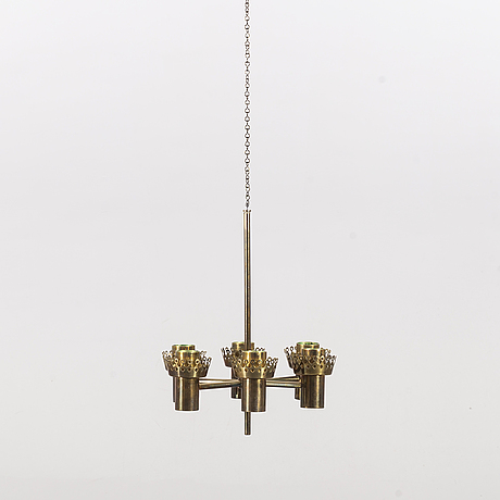 Hans-agne jakobsson, a brass chandelier.