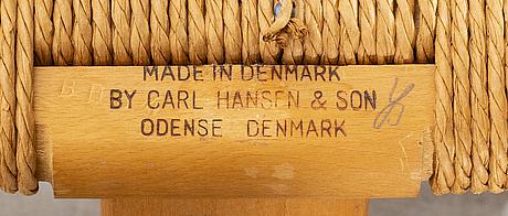 """Hans j wegner, """"y-stolen"""", stol, carl hansen & son, danmark."""