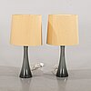 Berndt nordstedt, a pair of table lamps.