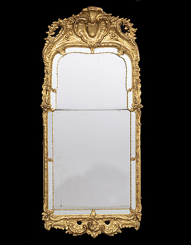 A swedish rococo mirror, mid 1700's.
