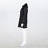 Jill sander, black coat lamb skin.