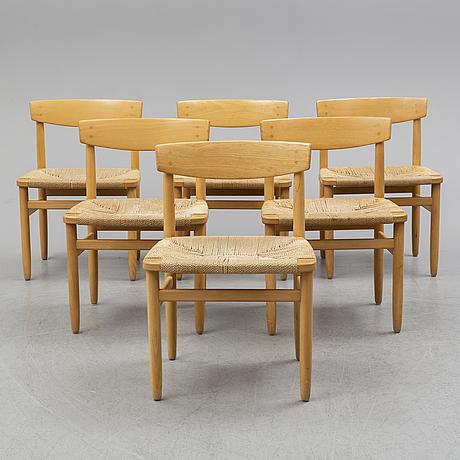 BØrge mogensen, six 'Öresund' chairs, karl andersson & söner.