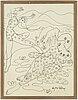 Aly ben salem, ink on paper, signed.