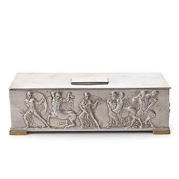 246. Herman Bergman's foundry, a pewter and brass box, Stockholm ca 1940.
