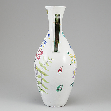 Stig lindberg, an eartheware vase from gustavsberg studio.