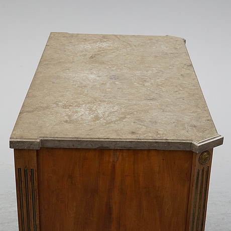 A late gustavian style chest of drawers, late 19th century.