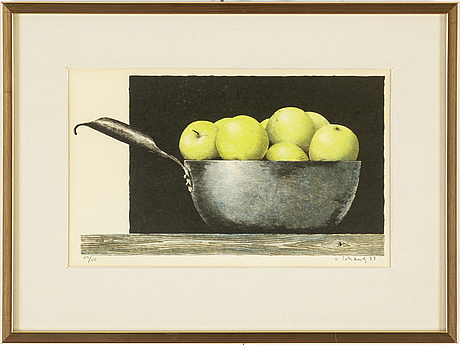 Philip von schantz, lithograph in colours, signed v schantz, dated 77 and numbered 119/125 in pencil.