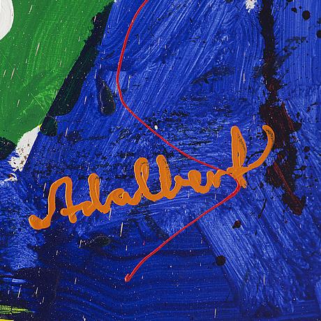 Per adalbert von rosen, oil on canvas, signed.