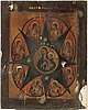 Icons; 2, russia, 19/20th century, one with ochlad.