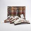 Mulberry bricka samt galgar 8 st england 1900-talets slut.