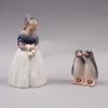 Figuriner, 2 st, porslin, royal copenhagen.