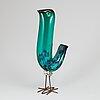 """Alessandro pianon, a """"pulcino"""" glass bird, vistosi, murano, italy 1960's."""