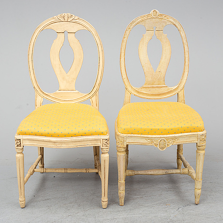 A set of 6+2 chairs, gustavian style, late 20th century.