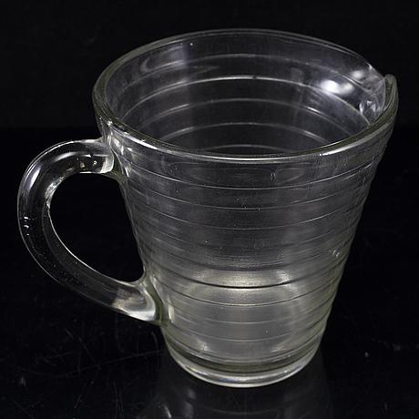 Aino aalto, 5 glasses and a pitcher, 'bölgeblick', karhula. iittala.