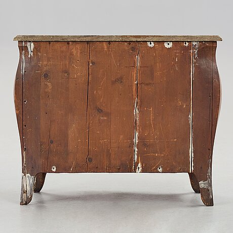 A swedish rococo commode by lars nordin (master in stockholm 1743-1773).