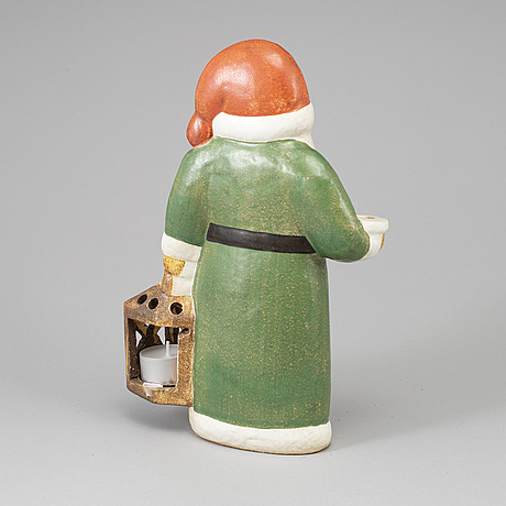 A stoneware candlestick for gustavsberg.