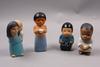 """Figuriner, 8 st, stengods, """"all världens barn"""", lisa larson."""