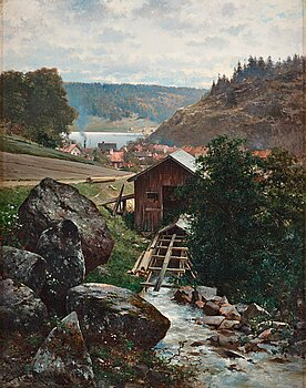 391. Carl Ferdinand Hernlund, Scene from Valdemarsvik, Sweden.