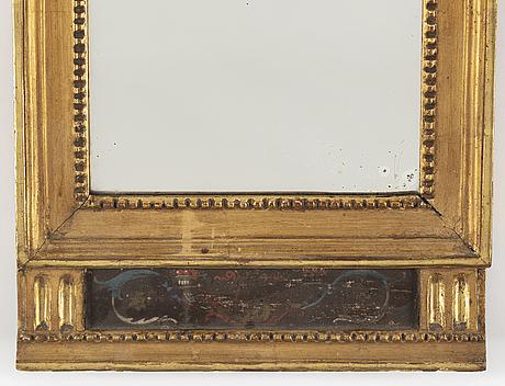 A late gustavian mirror, ca 1800.
