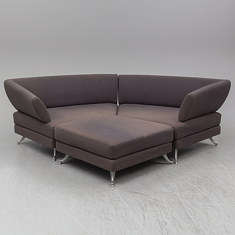 Semi-circular corner sofa, model 222. 21th century.